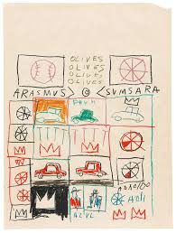 jean michel basquiat drawing work from the schorr family