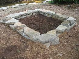 how to build a stone raised bed hgtv