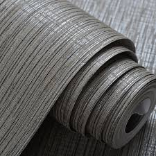 interior design grey silver striped wall paper classic textured