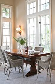 Modern Dining Room Ideas Dining Room Rattan Dining Chairs With Glass Windows Also Lighting