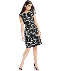 evan picone geo print faux wrap dress macys buy pinterest