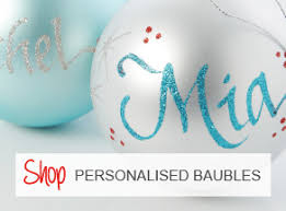 Personalised Christmas Ornaments - personalised christmas decorations u0026 baubles the christmas cart