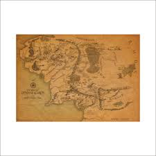 online shop the lord of the rings vintage middle earth map on