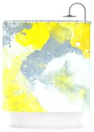 Grey And Yellow Shower Curtains Yellow Gray Shower Curtain Vrboska Hotel