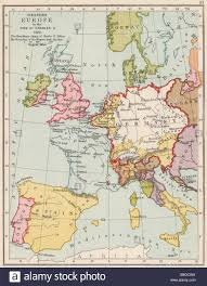 Map Western Europe by Holy Roman Empire 1525 Western Europe In The Time Of Charles V