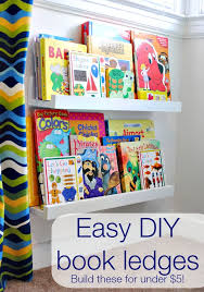 diy book shelf ledges easy inexpensive and awesome