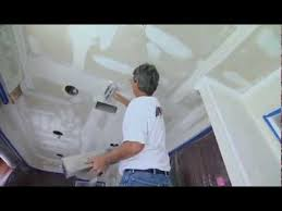 Easiest Way To Scrape Popcorn Ceiling by How To Remove Textured Popcorn Ceiling Youtube