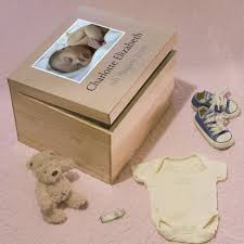 wooden baby keepsake box personalised new baby memory box with photo
