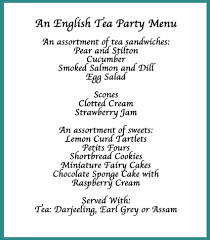 here s our suggestion for a traditional tea menu i