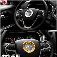 jeep steering wheel emblem aluminum alloy material for jeep grand cherokee car steering wheel