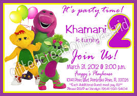 barney birthday invitations ajordanscart com
