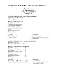 resume exles high school sle high school activities resume copy resume exles activities