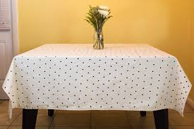 gold polka dot table cover s l300 shop polka dot table cloth image is loading red white pure