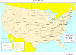 united states map with states and capitals labeled united states map with just capitals maps of usa us act like