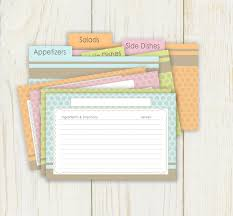 printable recipe cards 4 x 6 dots recipe cards and dividers 4x6 printable with both typeable and