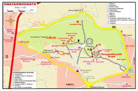 Kathmandu Nepal Map by Trans Asia 1975 The Stay In Nepal