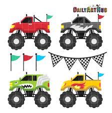 monster truck monster trucks clip art set daily art hub free clip art everyday