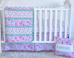 Purple Girls Bedding by Personalized Bedding Etsy
