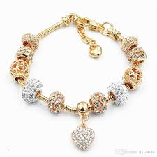 child charm bracelet images Gold pandora style bracelet bead charm bracelets for women alloy jpg