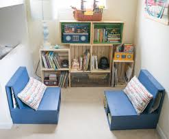 book storage kids diy wooden crate bookshelf making the perfect kids reading nook