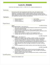 Server Resume Skills Examples Free by Free Resume Examples By Industry U0026 Job Title Livecareer