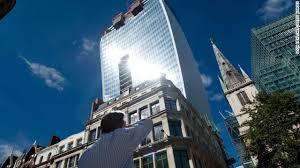 london glass building walkie talkie skyscraper melts luxury car in london cnn com