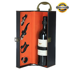 wine gift boxes zalik wine gift box set bounded leather carrier for