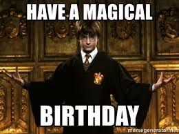Harry Potter Birthday Meme - have a magical birthday harry potter come at me bro meme generator