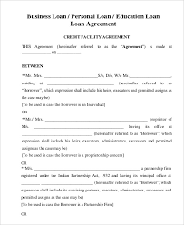 Business Loan Contract Template business loan template loan agreement template 11 free sle