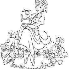 tarzan jane coloring pages hellokids