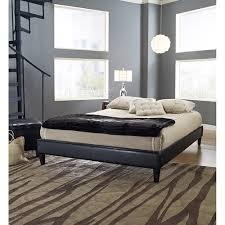 Premier Platform Bed Frame Premier Elite Faux Leather Black Platform Bed Frame