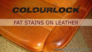 Leather Sofa Stain Remover by Leather Furniture Grease Stains Youtube