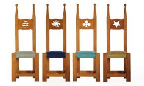 sedie rovere set di sedie trono in rovere spazzolato dima design
