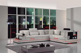 Modern White Leather Sectional Sofa by Modern White Leather Sectional Sofa