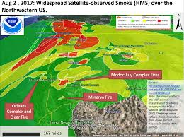 Wildfires California August 2017 by California Smoke Information Aug 4th 2017 Widespread Smoke And