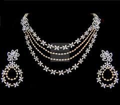 diamond jewelry necklace images 59 diamond a necklace diamond necklace and haram set jewellery jpg
