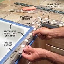diy bathroom countertop ideas tile kitchen countertops arizona tile ferro burnish