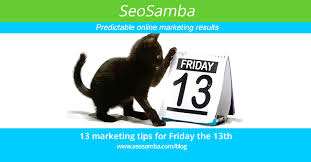13 awesome marketing tips for friday the 13th