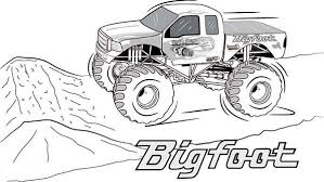 bigfoot monster truck coloring photo gallery monster