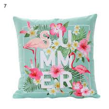 Flamingo Home Decor Fashion Flamingo Polyester Throw Pillow Case Sofa Cushion Cover