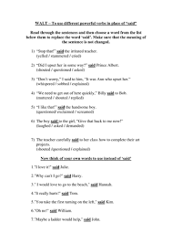 don u0027t use said worksheet by groov e chik teaching resources tes