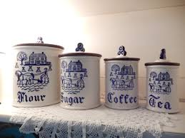 100 pottery kitchen canisters do this but maybe leave the