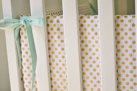 metallic gold dot crib bumpers gold crib bumpers polka dot