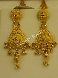 earrings in gold small gold earrings rishabh gold jewels india limited