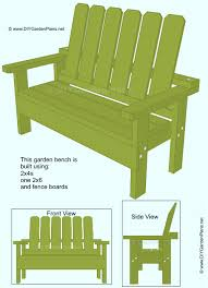 build it yourself garden bench free plans