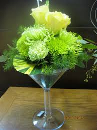 Martini Glass Vase Flower Arrangement Florist Friday Recap 3 9 U2013 3 15 Spring Green