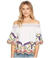 shoulder blouse romeo juliet couture multi embroidered the shoulder blouse