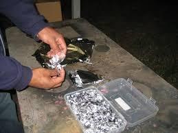 foil shreds german aluminum powder from foil 9 steps