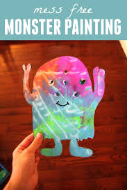 halloween activities for toddlers toddler approved mess free monster painting