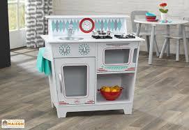 cuisine kidkraft blanche cuisine traditionnelle en bois pour enfants blanche kidkraft
